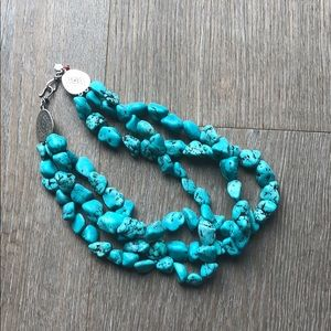 Lucky Brand turquoise necklace.